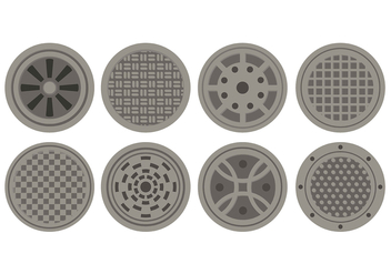 Manhole Icons - Kostenloses vector #393175