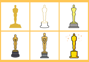 Oscar Statue Vector Set - бесплатный vector #393195
