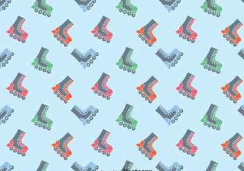 Flat Roller skaters Pattern Background - бесплатный vector #393255