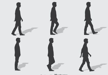 Man Walk Cycle Vector - Free vector #393295