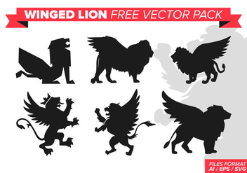 Winged Lion Free Vector Pack - vector gratuit #393395