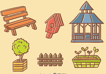 Hand Drawn Garden Element Vector - vector gratuit #393425