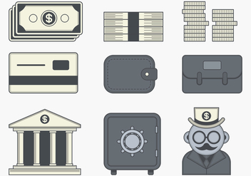 Financial Icon - vector gratuit #393455