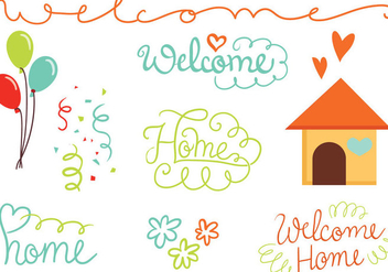 Free Welcome Home Vectors - vector #393475 gratis