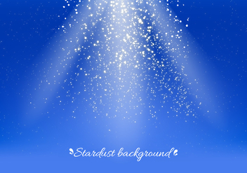 Blue Vector Stardust Background - Kostenloses vector #393515