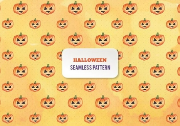 Free Vector Halloween Watercolor Pumpkins Pattern - Free vector #393545