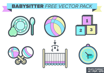 Babysitter Free Vector Pack - Free vector #393585