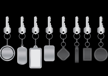 Keychains Vector Pack - Free vector #393655