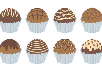 Free Truffles Icons Vector - Free vector #393695
