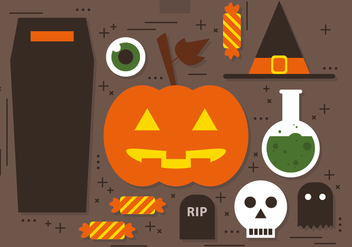 Free Vector Halloween Icons - Kostenloses vector #393715