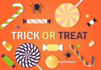 Halloween Trick or Treat Candy Vector Illustration - Kostenloses vector #393735