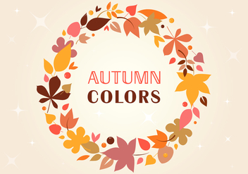 Free Autumn Vector wreath - бесплатный vector #393745