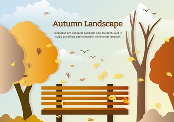 Free Vector Autumn Park Bench - бесплатный vector #393765