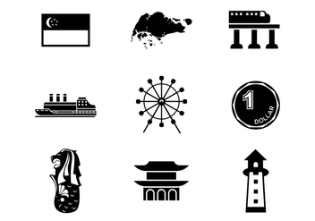 Free Singapore Icons Vector - Kostenloses vector #393775