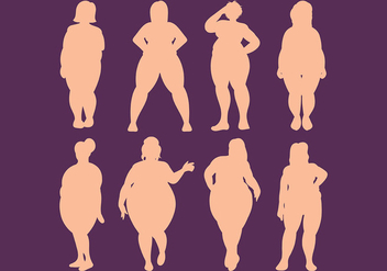 Free Fat Women Icons Vector - vector gratuit #393785