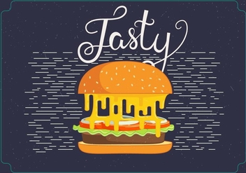 Free Vector Hamburger Illustration - бесплатный vector #393865
