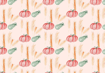 Vector Autumn Squash Background - Free vector #393925