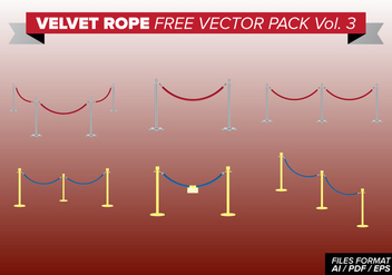Velvet Rope Free Vector Pack Vol. 3 - Kostenloses vector #393945
