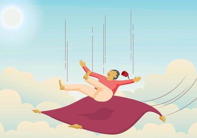 Free Magic Carpet Illustration - Kostenloses vector #393965