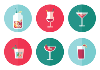 Beverages Icon Vectors - vector gratuit #393975