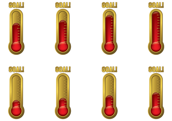Goal Thermometer Vector - Free vector #393985
