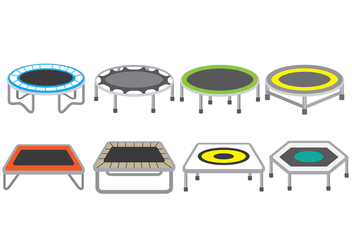 Trampoline Icons - Free vector #394035