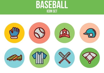 Free Baseball Icons - vector #394105 gratis