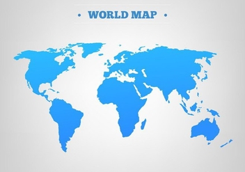Free Vector Blue World Map - Kostenloses vector #394115