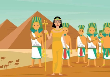 Free Cleopatra Illustration - Free vector #394125