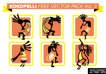 Kokopelli Free Vector Pack Vol. 3 - vector #394165 gratis