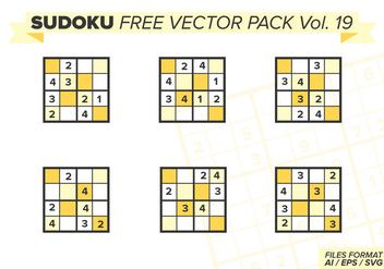 Sudoku Free Vector Pack Vol. 19 - бесплатный vector #394275
