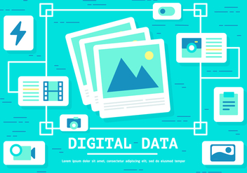 Free Digital Data Vector - vector gratuit #394295