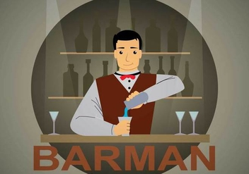 Free Barman Illustration - vector gratuit #394345