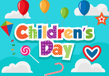 Free Children's Day Vector Illustration - бесплатный vector #394385