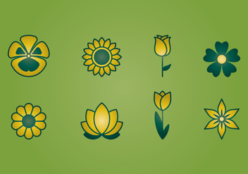 Flower Icons - vector gratuit #394395