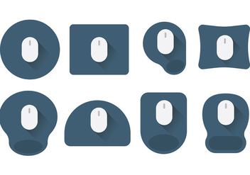 Free Mouse Pad Icons Vector - бесплатный vector #394415