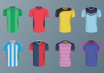 Free Football Shirt Vectors - vector gratuit #394425