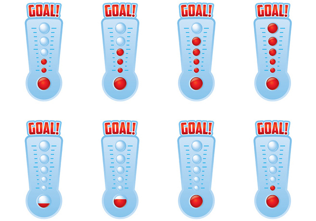 Goal Thermometer Vector - Free vector #394435