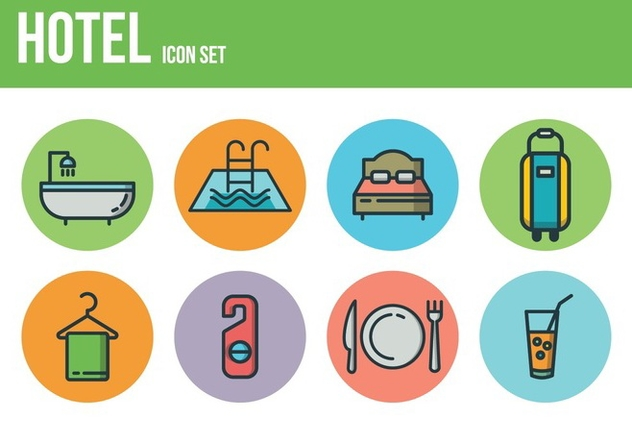 Free Hotel Icons - Kostenloses vector #394515