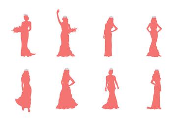 Pageant Silhouette Vector - Free vector #394535