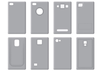 Free Phone Case Icons Vector - vector gratuit #394595