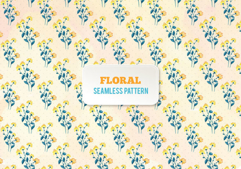 Free Vector Watercolor Floral Pattern - Kostenloses vector #394625