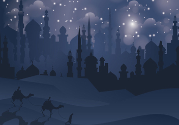Free Arabian Nights Vector Illustration - Free vector #394635