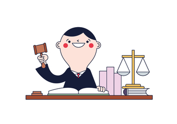 Free Judge Vector - vector #394655 gratis