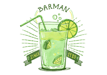 Free Barman Alcoholic Drink Background - Free vector #394845