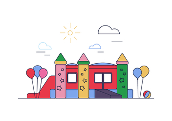 Free Bounce House Vector - бесплатный vector #394905