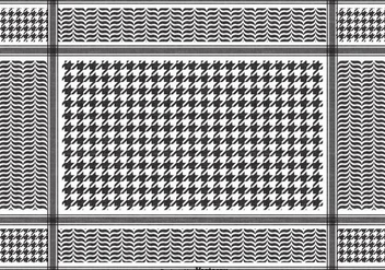 Free Vector Black Keffiyeh Pattern - Free vector #394925