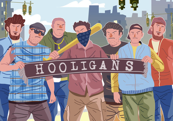 Vector Hooligans Gathering - vector gratuit #394965