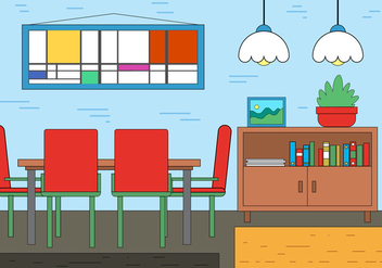 Free Dining Room Vector Design - vector gratuit #395045