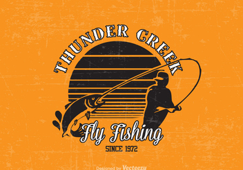 Free Fly Fishing Vector Design - Kostenloses vector #395115